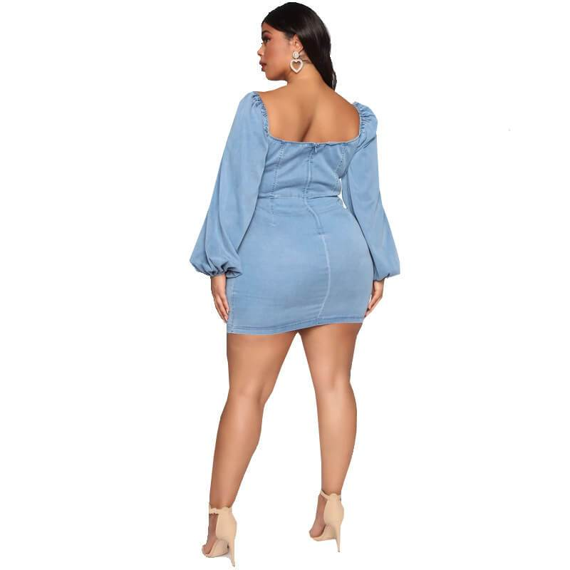 Wedding Dresses For Curvy Women - blue back