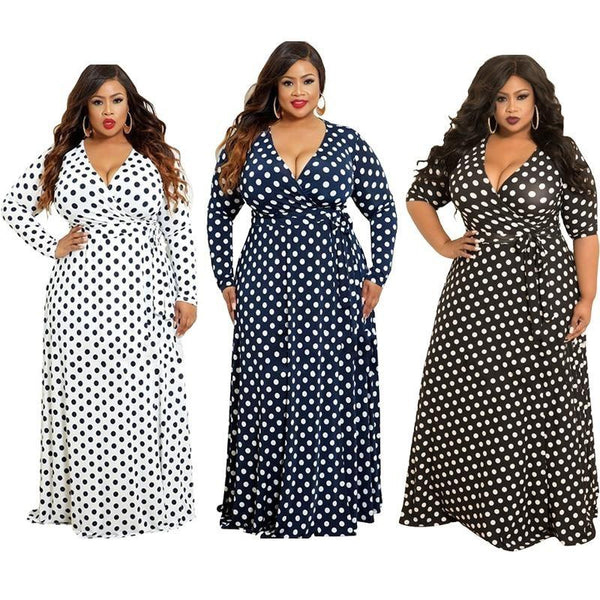 Plus Size Dresses For Women - three colors main picture