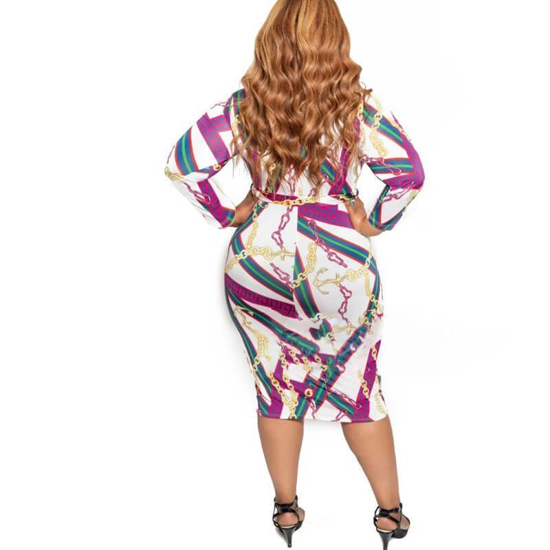 Cheap Plus Size Dresses - white back