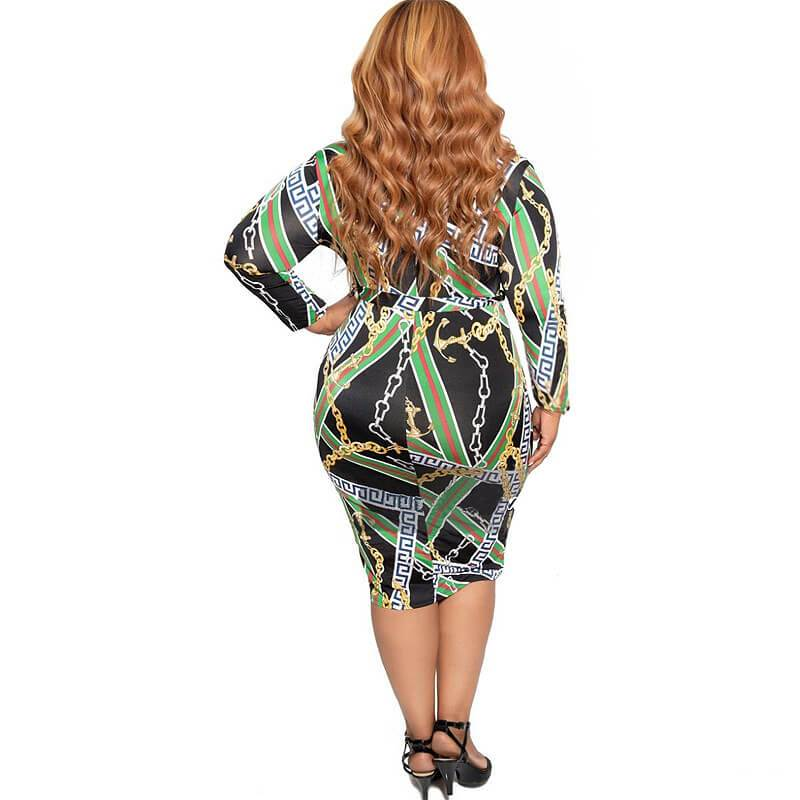 Cheap Plus Size Dresses - green back