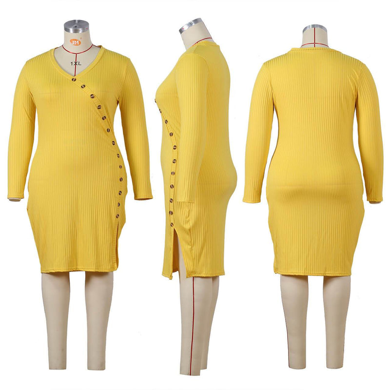 Plus Size Special Occasion Dresses - yellow detail image