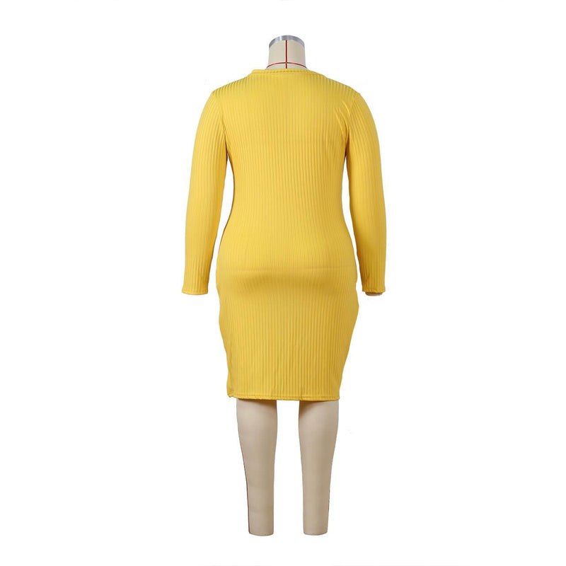Plus Size Special Occasion Dresses - yellow back