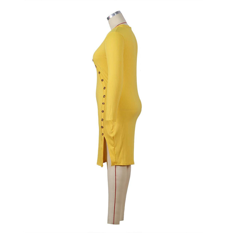 Plus Size Special Occasion Dresses - yellow side