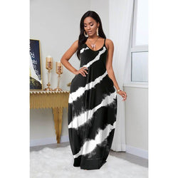 plus size summer dresses - black color