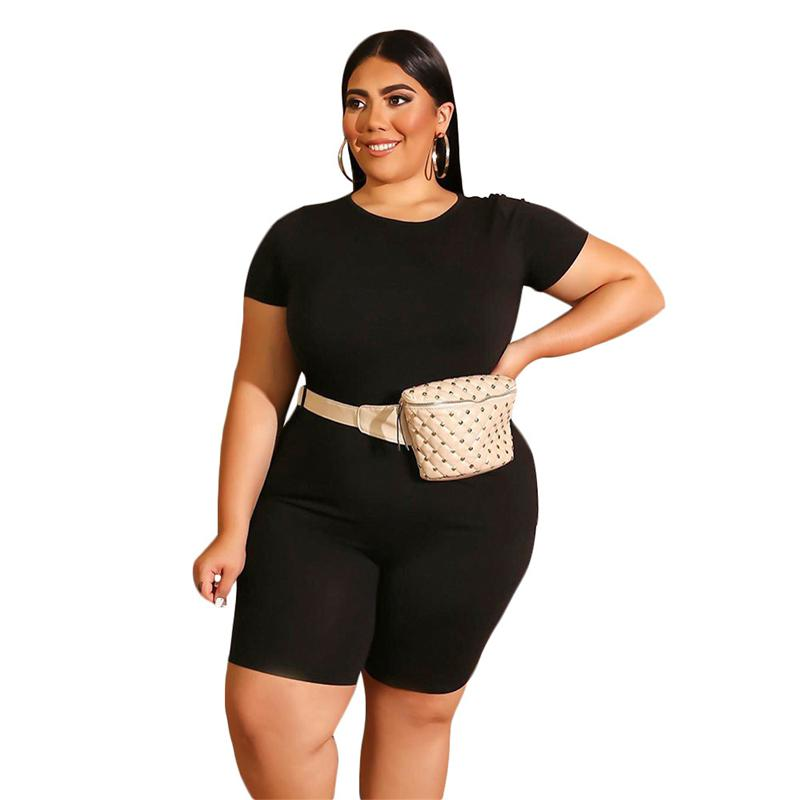 Plus Size O-neck Fitness Two Pieces Outfits