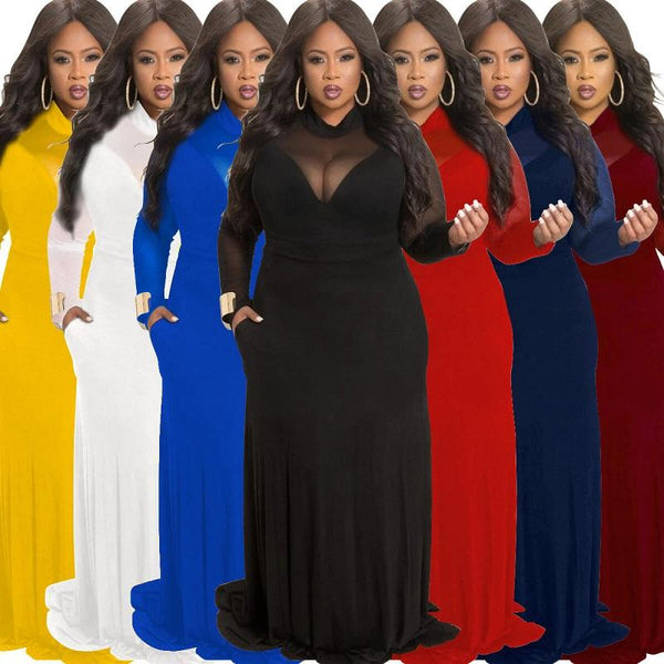 Plus Size Velvet Dress - colors