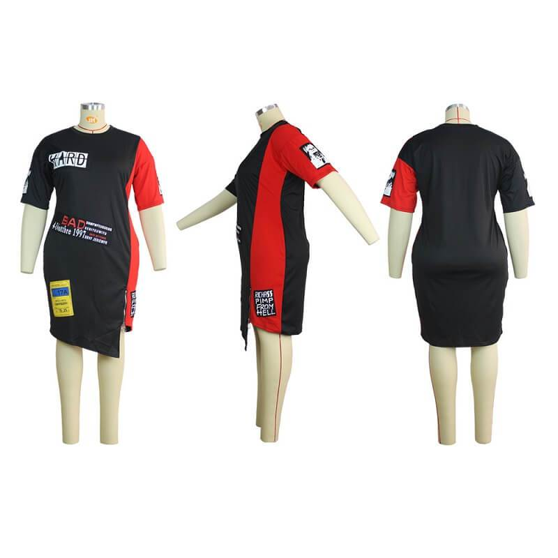 Dresses For Chubby Girls - black and red model picture
