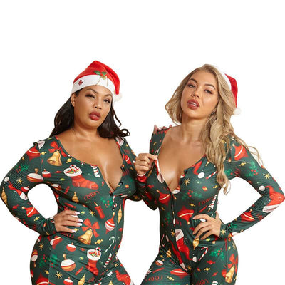 Plus Size Tight Christmas Jumpsuit - main picture