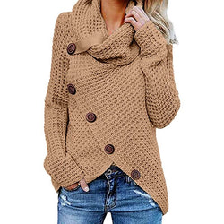 Plus Size Distressed Sweater - khaki color