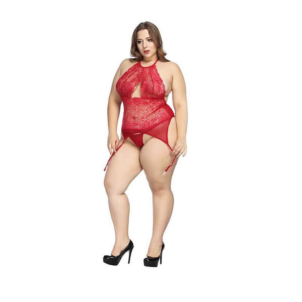 Plus Size  Lace Jumpsuit Sexy Size Underwear