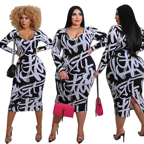 Plus Size Party Cocktail Dresses - white main picture