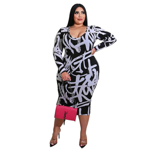 Plus Size Party Cocktail Dresses - white positive
