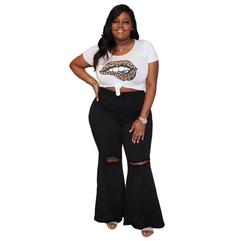 Plus Size Large Size Bell-bottoms