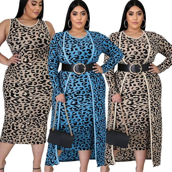 plus size two piece dress set - main picture