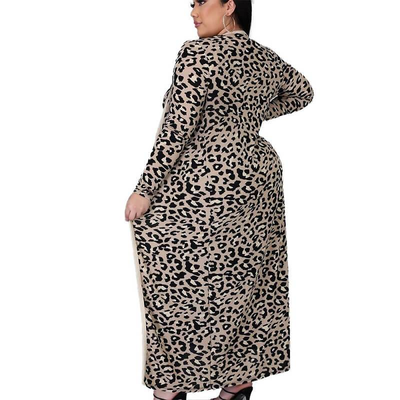 Plus Size Large Size Leopard Print Suit