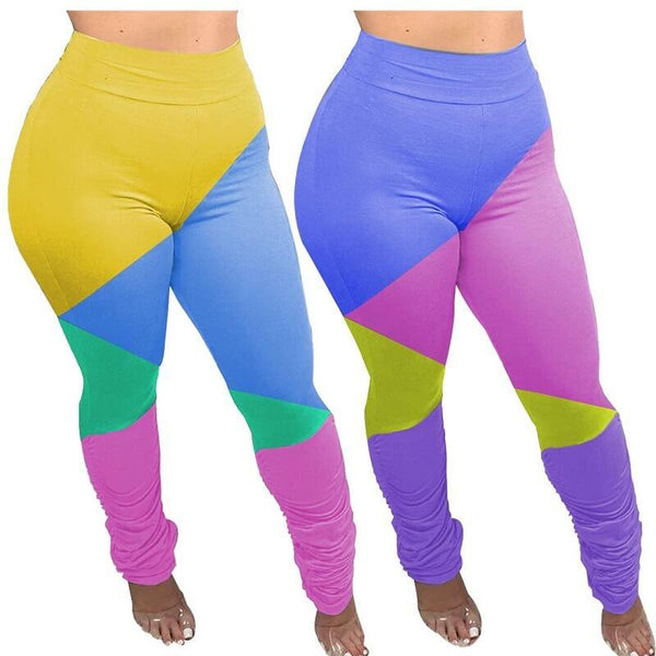 Plus Size Large Size Stitching Small Leggings