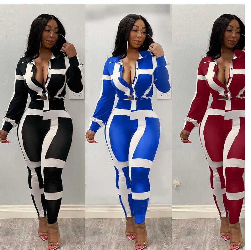 Plus Size Striped Suit - main picture