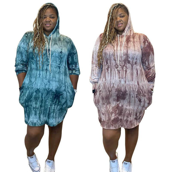 Plus Size Casual Summer Dresses -  two colors