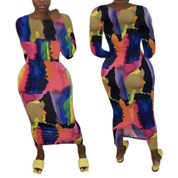 Plus Size Large Size Tie-dye Dress