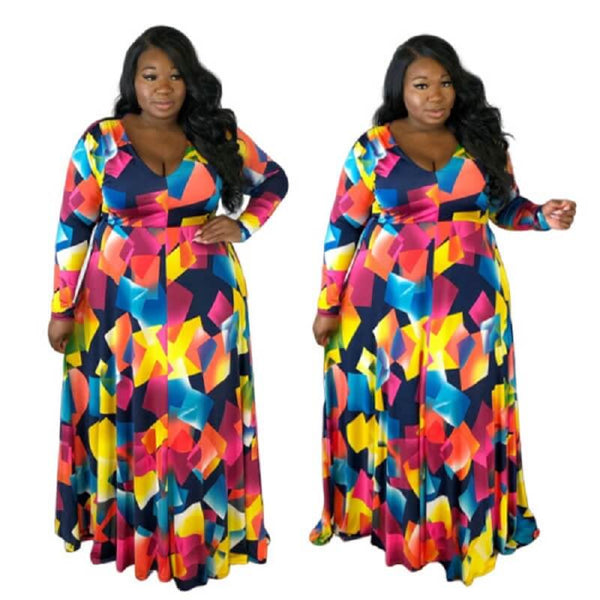 Trendy Plus Size Cocktail Dresses -  multicolor main picture