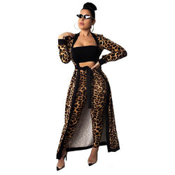 Leopard Print Two Piece - Front view