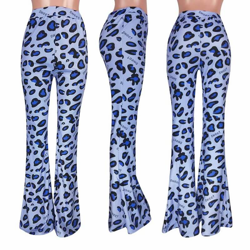 Leopard Print Casual Tight-fitting Trousers