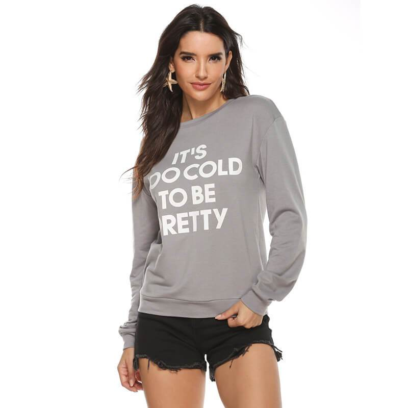 Letter Printed Long Sleeve Top