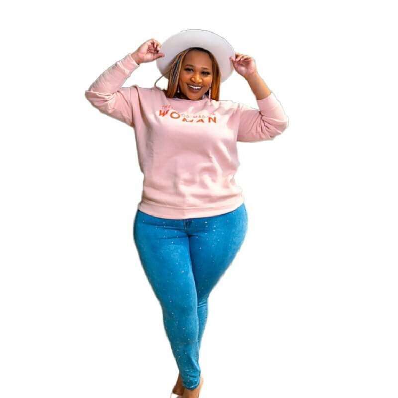 Plus Size Letter Sports Sweater