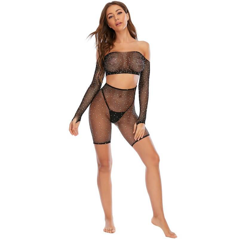 Black Sexy Lingerie Sets Front View
