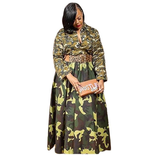 Plus Size Vintage Dresses - green positive