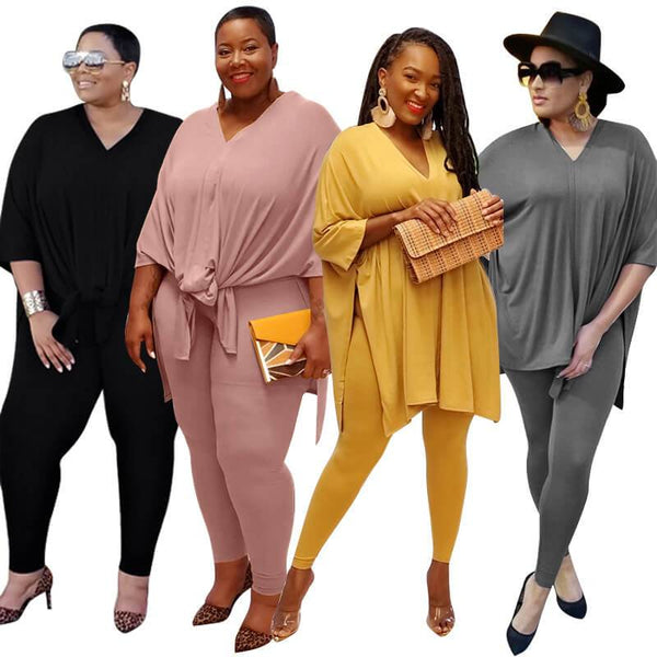 Plus Size Fashion Leisure Two Sets - main picture