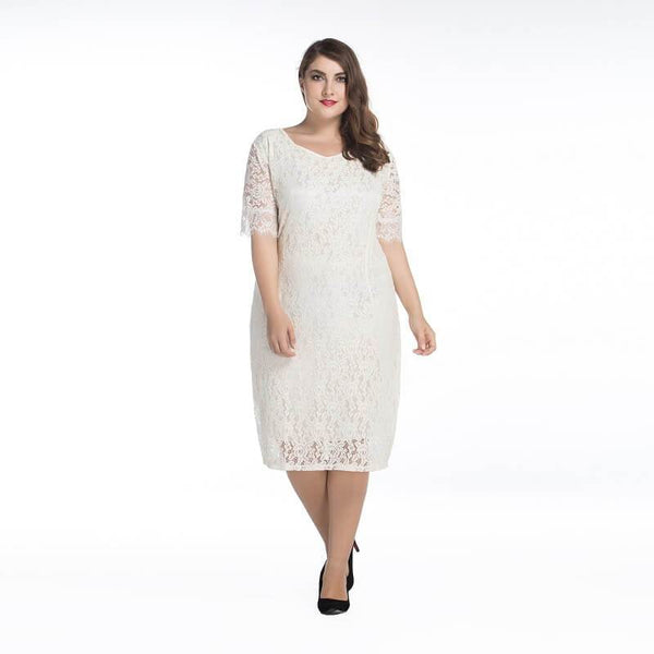 Mother Of the Groom Dresses Plus Size - beige color