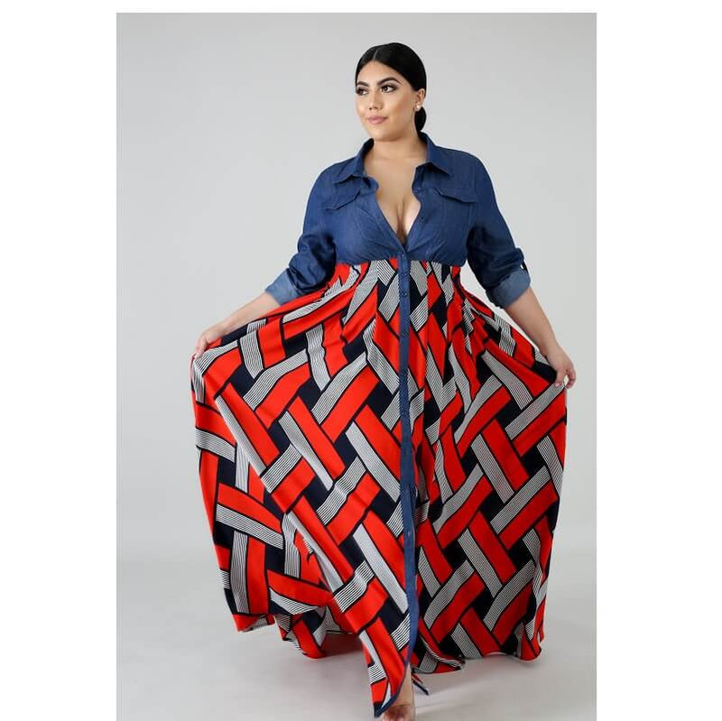 Plus Size Long Formal Dresses - red color