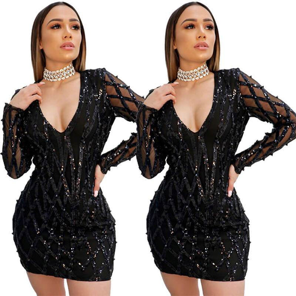 Sexy Tight Black Dress - Wholesale Sexy Dress | Chic Lover