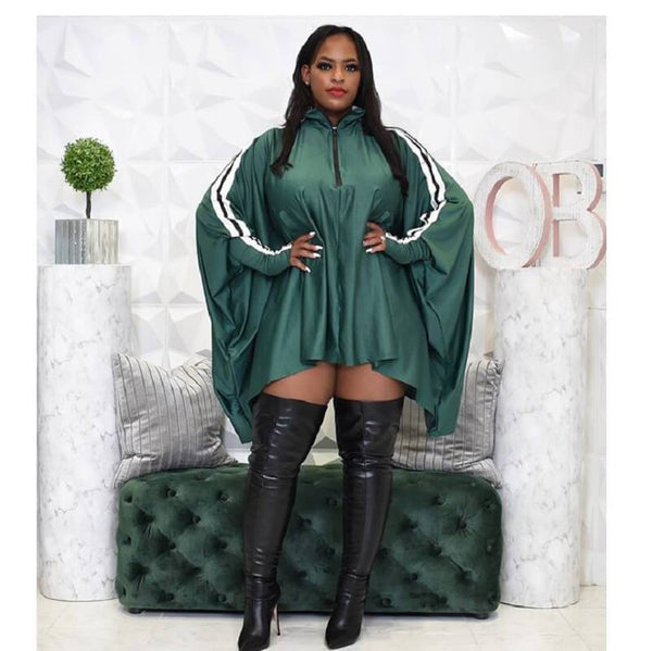 Plus Size Oversized Drawstring Dress