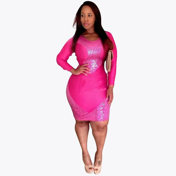 Plus Size Wedding Dress - pink color