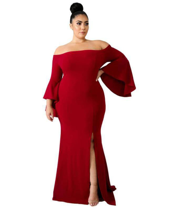Discount Plus Size Wedding Dresses - red color