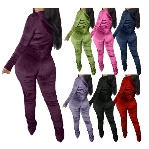 Plus Size Style Leisure Suit - colors