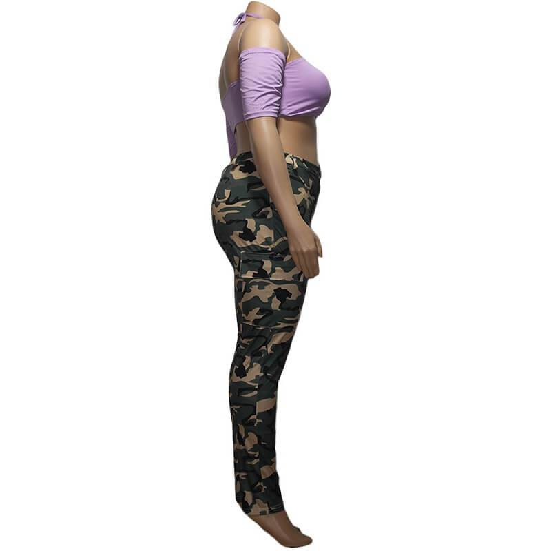 Plus Size  Camouflage Trousers