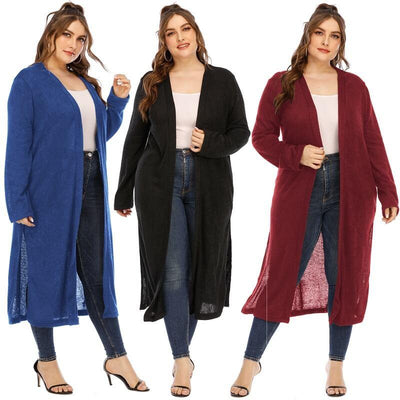 Long Trench Coat Women's Plus Size  - mian picture