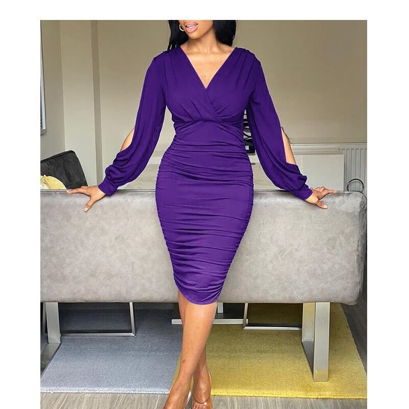 Five Colors Size 20 Dresses - dark purple color