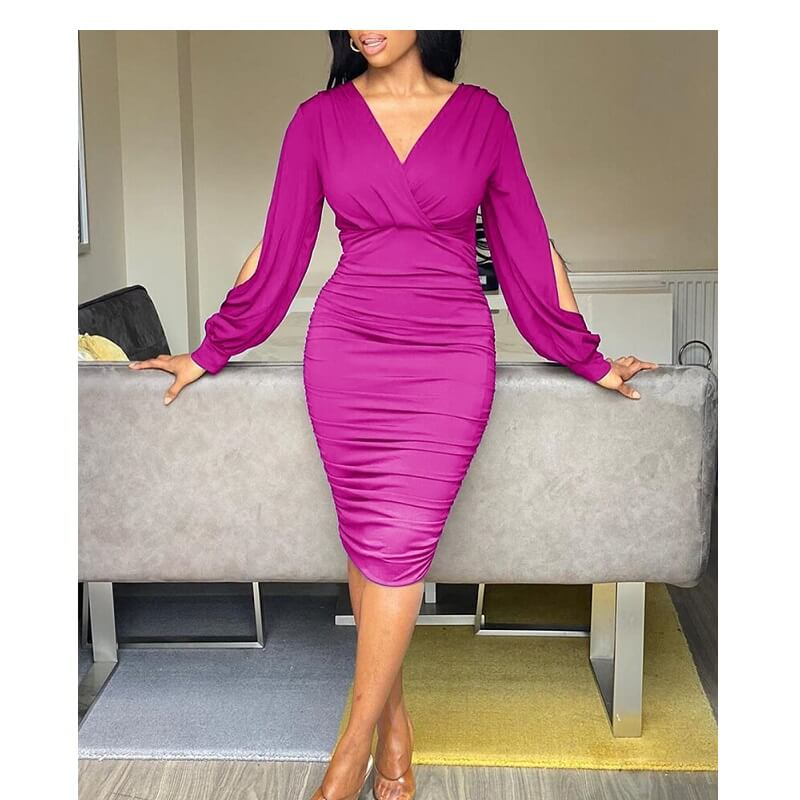 Five Colors Size 20 Dresses  - purplish red  color