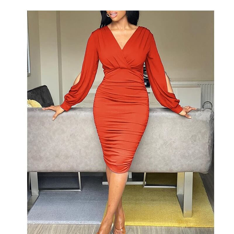 Five Colors Size 20 Dresses  - orange color