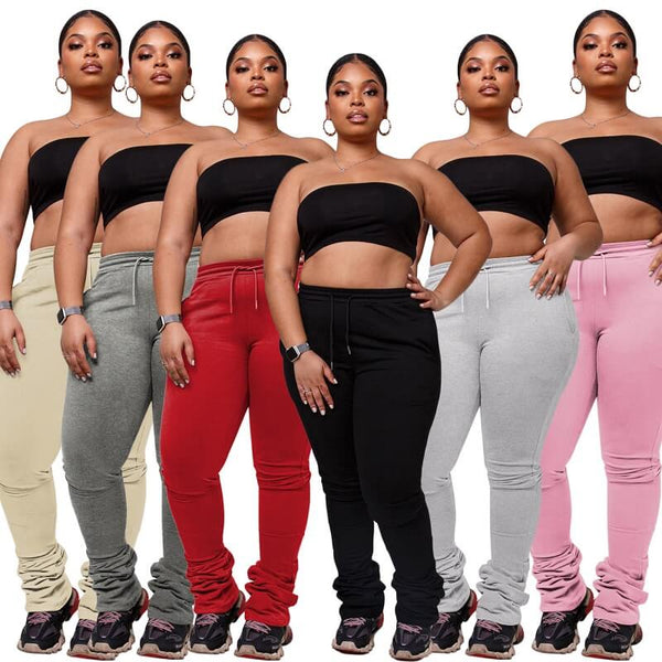 Plus Size Draw rope sweatpants