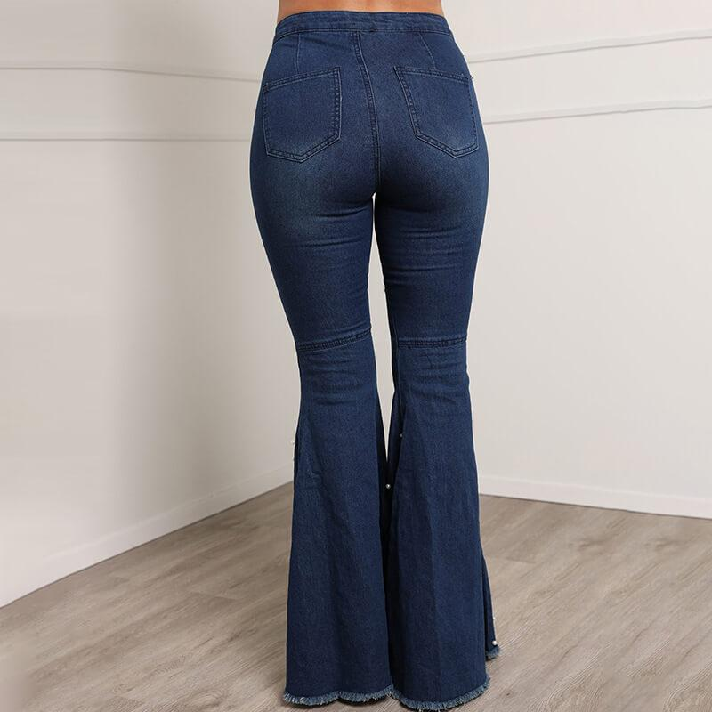 Plus Size Grand Bead Bell-bottoms