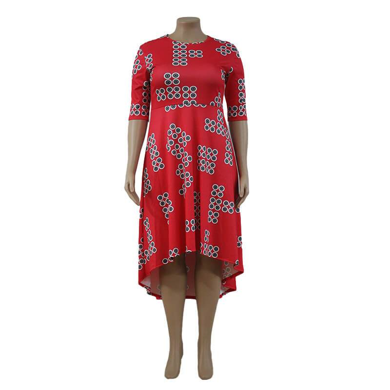 Plus Formal Dresses - red positive