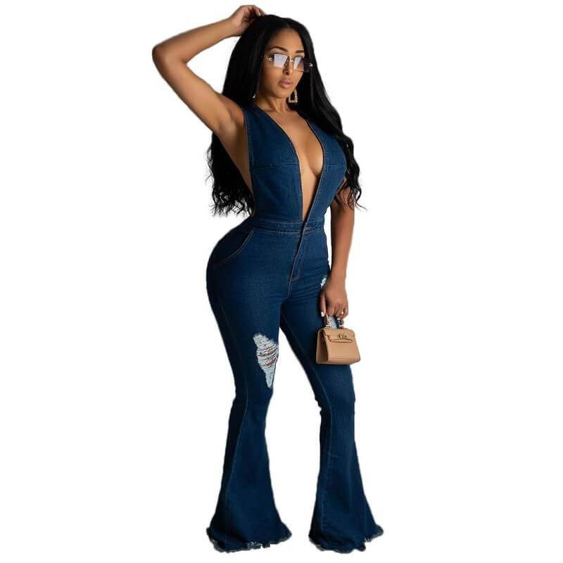Plus Size Oversized Strap Jumpsuit
