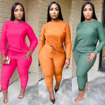 Plus Size Green 2 Piece Sets - main picture