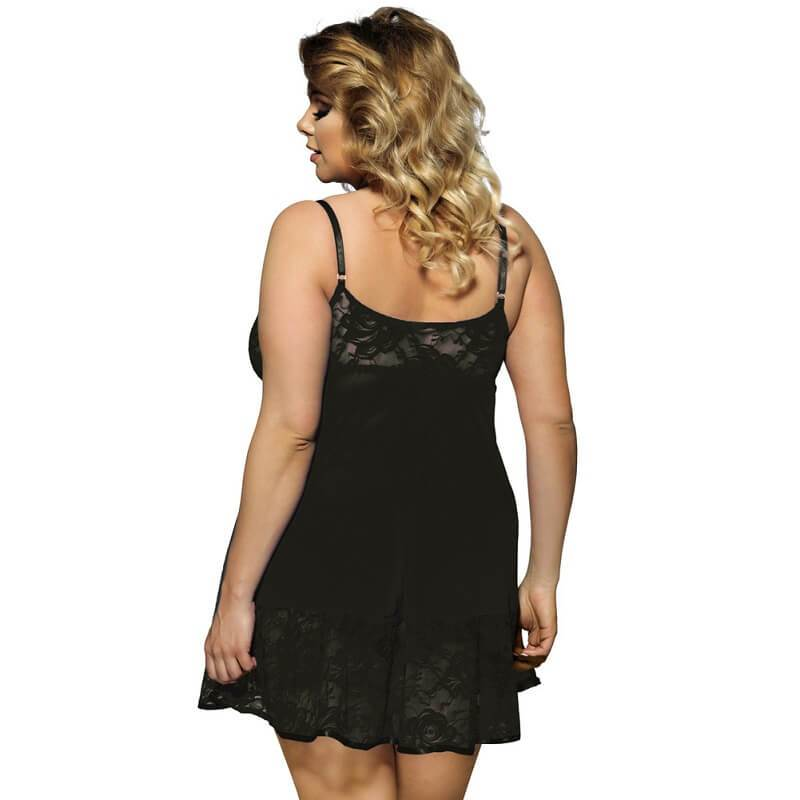 Plus Size Sexy Lace Sling Nightdress