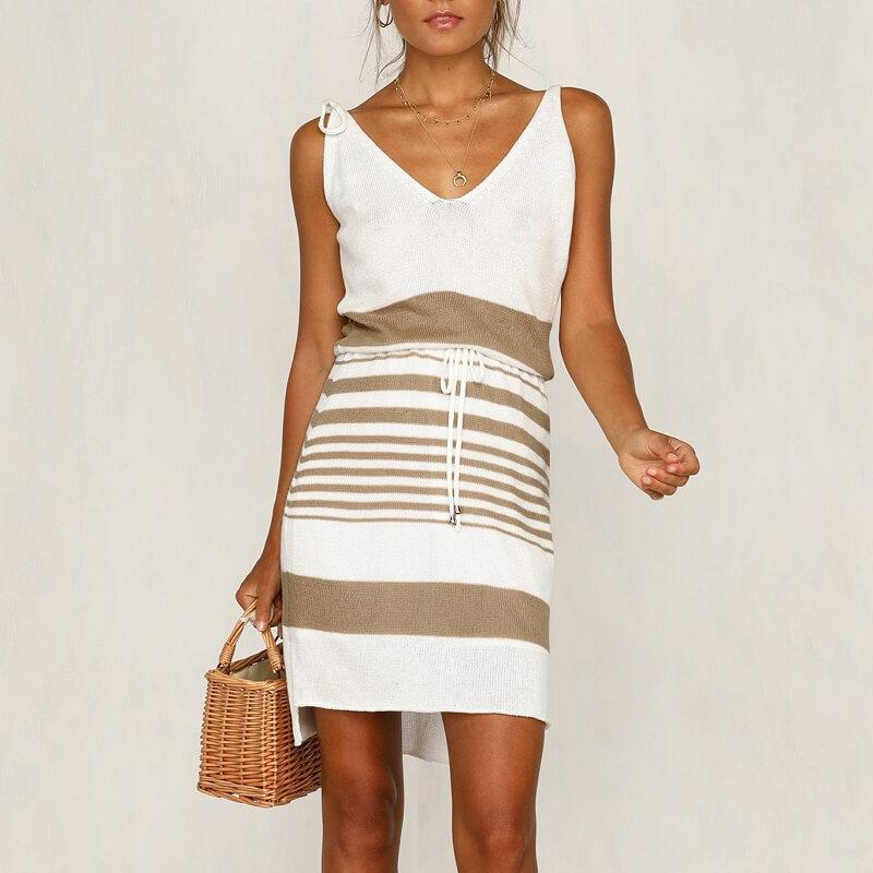 plus size smock dress - khaki positive